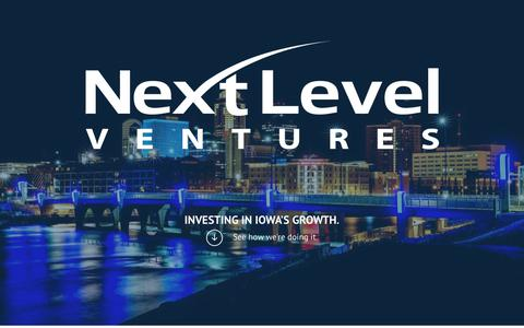 Screenshot of Press Page nextlevelvc.com - Iowa's Venture Capital Firm - captured Oct. 18, 2018