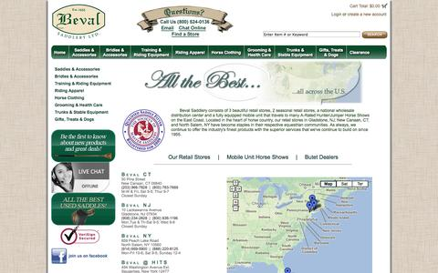 Screenshot of Locations Page beval.com captured Oct. 5, 2014