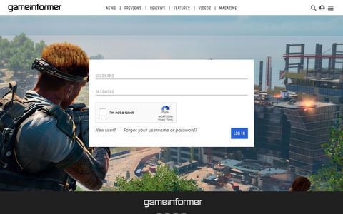 Screenshot of Team Page gameinformer.com - Log in - Game Informer - captured Sept. 21, 2018