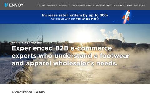 Screenshot of Team Page envoyplatform.com - Meet The Envoy Team | B2B Commerce Experts - captured Oct. 23, 2018