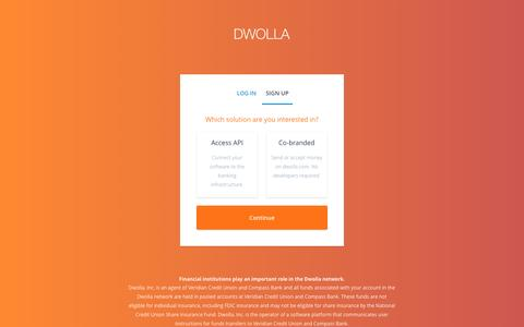 Screenshot of Signup Page dwolla.com - Dwolla | Interest - captured Jan. 21, 2017