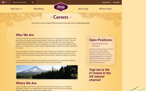 Screenshot of Jobs Page yogiproducts.com - Careers At Yogi - captured Feb. 7, 2017