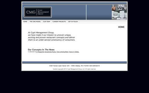Screenshot of Home Page cupitmg.com - Cupit Management Group, LLC - captured Oct. 3, 2014