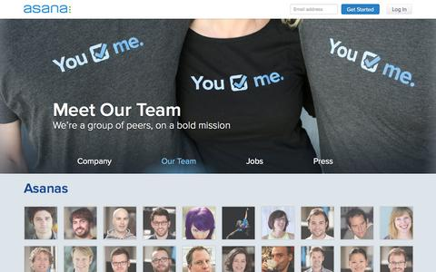 Screenshot of Team Page asana.com - Asana  · Team - captured Sept. 13, 2014