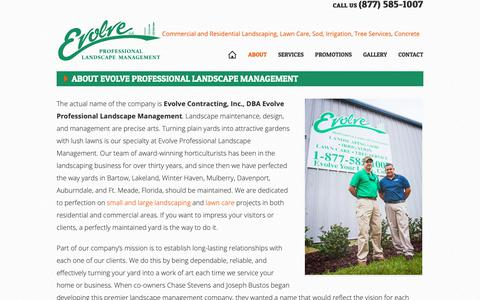 Screenshot of About Page evolveyourlawn.com - About Evolve Professional Landscape Management - Evolve Professional Landscape Management - captured Sept. 29, 2018