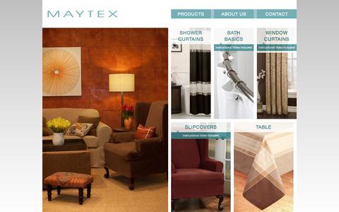 Screenshot of Products Page maytex.com - Maytex - captured Oct. 27, 2014