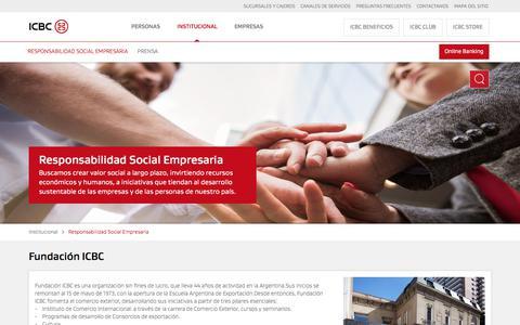 Fundación ICBC - Responsabilidad Social Empresaria