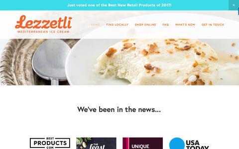 Screenshot of Press Page lezzetliicecream.com - We've been in the news... — Lezzetli Mediterranean Ice Cream - captured Aug. 5, 2017