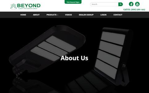 Screenshot of About Page beyondledtechnology.com - About Us | LED Lights Atlanta Wholesaler Street Led Lights Cheap LED Lights - captured Oct. 5, 2018