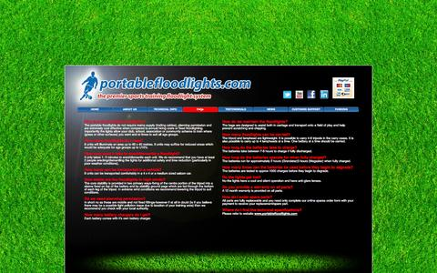Screenshot of FAQ Page portablefloodlights.com - FAQs - portablefloodlights.com - captured Oct. 3, 2014