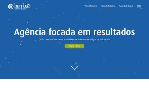 Screenshot of Home Page agenciabamboo.com.br - Bamboo Agência Digital - Marketing Digital Goiânia - captured Nov. 22, 2016