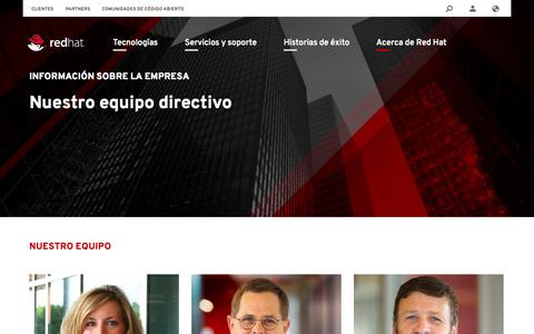 Screenshot of Team Page redhat.com - Equipo ejecutivo | Red Hat - captured Oct. 27, 2014