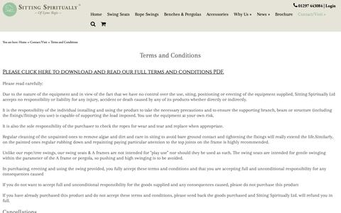 Screenshot of Terms Page sittingspiritually.co.uk - Terms & Conditions | Sitting Spiritually - captured Oct. 18, 2018