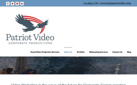 Screenshot of About Page patriotvideo.com - Video Marketing in Orange County, CA Huntington Beach - captured July 16, 2017