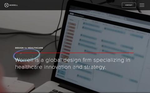 Screenshot of Home Page worrell.com - Worrell | Design for Healthcare - captured Feb. 9, 2020
