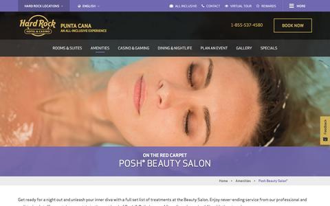 Posh Beauty Salon® | Hard Rock Punta Cana