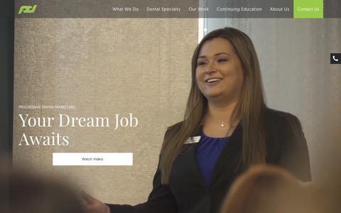 Screenshot of Jobs Page progressivedentalmarketing.com - Digital Marketing Careers   Progressive Dental Marketing - captured May 3, 2018