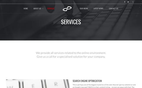 Screenshot of Services Page digitalplatforms.co.za - Digital Platforms Services - Web, Software & Apps - captured Jan. 7, 2016