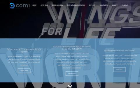 Screenshot of Press Page com1.nl - Nieuws - Com1 B.V. - captured Feb. 11, 2016