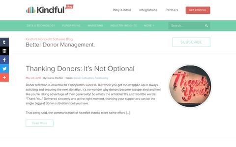 Kindful Blog - Nonprofit CRM and Fundraising Blog