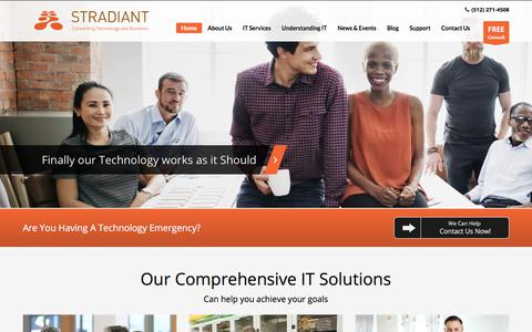 Screenshot of Home Page stradiant.com - Managed IT Services & IT Support | Austin, TX | Stradiant - captured Nov. 7, 2017