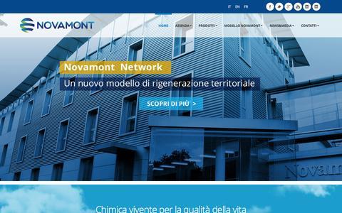 Screenshot of Home Page novamont.com - Novamont S.p.A. - Chimica Vivente per la Qualitˆ della Vita - captured Jan. 11, 2016