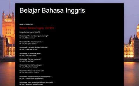 Screenshot of Home Page ygzyw.net - Belajar Bahasa Inggris - captured Feb. 12, 2016