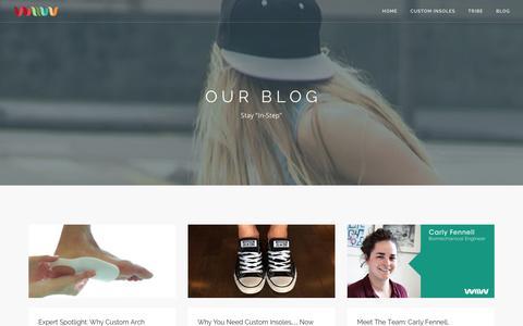 Screenshot of Blog wiivv.com - Read the Wiivv Blog | Experience the Future of Fitness - captured Dec. 11, 2015