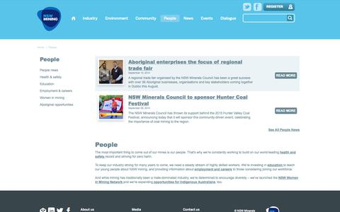 Screenshot of Team Page nswmining.com.au - NSW Mining Our People - NSW Mining - captured Oct. 7, 2014