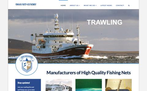 Screenshot of Home Page swannetgundry.com - Swan Net Gundry   Manufacturers of high quality fishing nets - captured Oct. 20, 2018