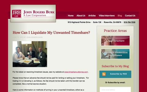 Screenshot of Blog timeshare-attorney.com - Blog - Timeshare Attorney - captured Feb. 5, 2018