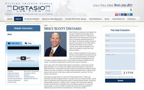 Screenshot of About Page distasiolawfirm.com - Personal Injury Lawyer Tampa | About Us  | Distasio Law Firm - captured Sept. 30, 2014