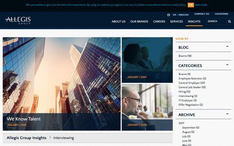 Screenshot of Blog allegisgroup.com - Interviewing - captured Oct. 4, 2017