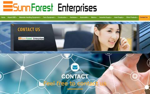Screenshot of Contact Page sunnforest.com - Sunnforest Contact,Sunnforest Address,Sunnforest - captured Oct. 19, 2018
