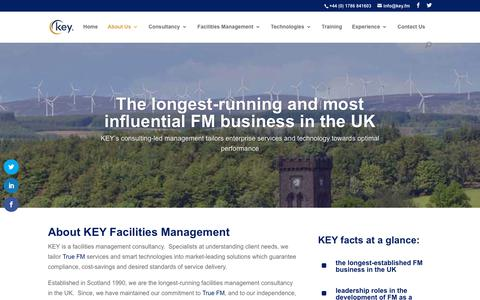 Screenshot of About Page key.fm - About Key - Key Facilities Management - captured July 4, 2018