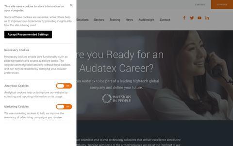 Screenshot of Jobs Page audatex.co.uk - Careers | Audatex - captured Oct. 24, 2018