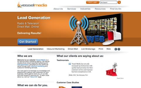 Screenshot of Home Page Privacy Page vesselmedia.com - Vessel Media - captured Oct. 1, 2014