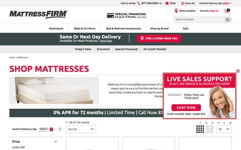 Shop Mattresses | Mattress Firm