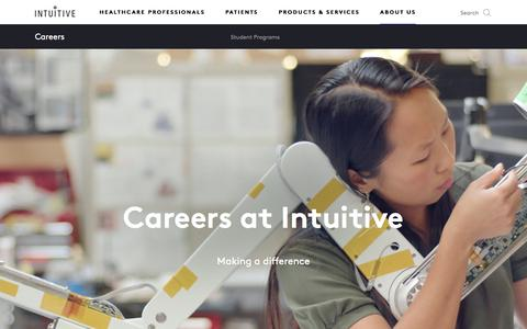Screenshot of Jobs Page intuitive.com - Intuitive   Careers   Opportunities   Jobs - captured Aug. 16, 2018