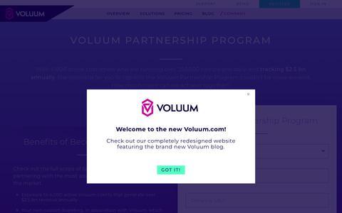 Become Voluum Partner