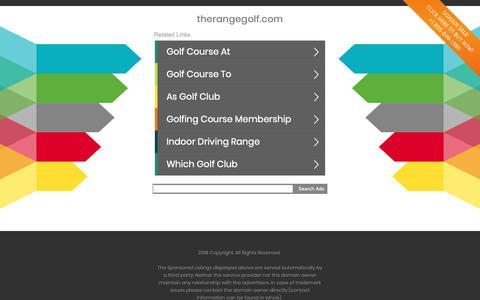 Screenshot of Home Page therangegolf.com - therangegolf.com - captured Nov. 19, 2018