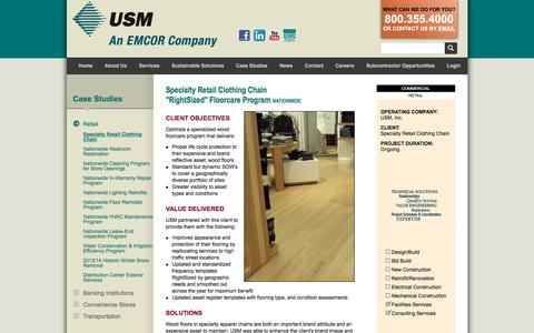 Screenshot of Case Studies Page usmservices.com - Commercial Janitorial Services & Property Management Services | USM - captured Dec. 17, 2016
