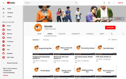 Moodle - YouTube - YouTube