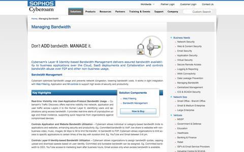 Managing Bandwidth – Cyberoam