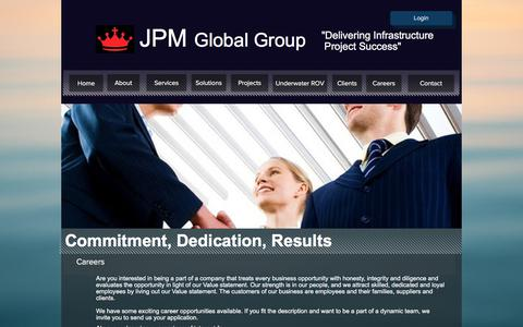 Screenshot of Jobs Page jpmaustralia.com.au - Project Delivery | JPM Global - Your Project Delivery Partner | Careers1 - captured Sept. 20, 2018