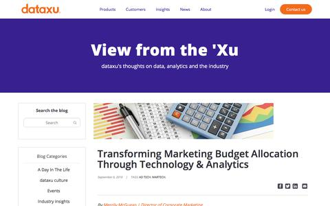 Screenshot of Blog dataxu.com - (18) New Messages! - captured Nov. 18, 2019