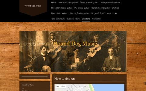 Screenshot of Maps & Directions Page hounddogmusic.co.uk - Hound Dog Music - Directions - captured May 23, 2017