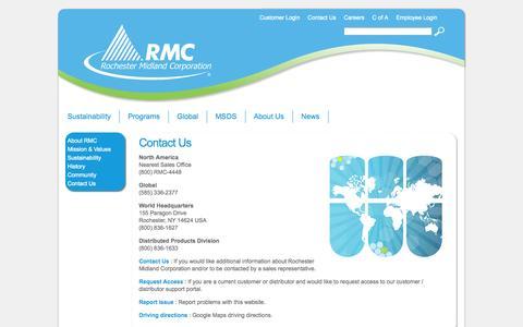 Screenshot of Contact Page rochestermidland.com - Contact Us - captured Oct. 26, 2014
