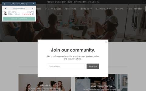 Screenshot of Team Page yogalifestudios.ca - Our Team — YOGALIFE STUDIOS EDMONTON - captured Sept. 21, 2018