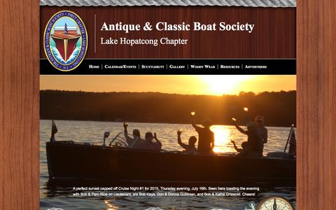 Screenshot of Home Page lhacbs.org - LHACBS Hopatcong, NJ - captured Oct. 9, 2015